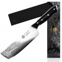 7'' Chef Knife Japanese Damascus Stainless Steel Nakiri Kitchen Knife Chopper