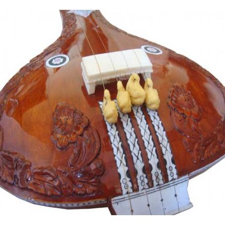 Fully Carved Tamburi Instrumental Tanpura. 39 inches. Beautiful!