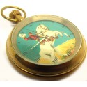 The Lone Ranger - Vintage Blue Comic Art 17 Jewels Pocket Watch