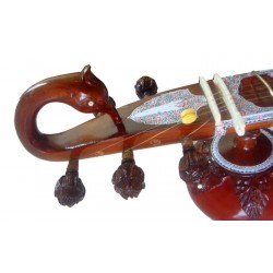 Ravi Shankar Peacock Sitar Natural Wood Beauty. Ultra-Pro Quality with Double Resonator. Fully Carved.