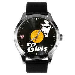 Classic Elvis Presley Vinyl LP Art Pop Art Collectible 40 mm Brass Wrist Watch