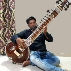 Pro-Grade Surbahar SUR BAHAR Indian Bass Sitar Calcutta Instrument. Dragon Head.