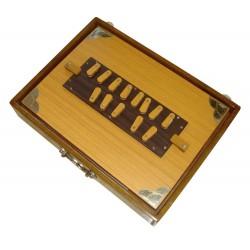 Large Size Shruti Box Surpeti In Teakwood 13 Stoppers Extra Long Sustain MKS 40 cm x 30 cm