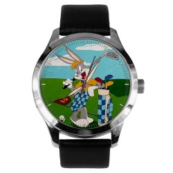 Bugs Bunny Playing Golf, Vintage 1950s Looney Tunes Art Collectible Wrist Watch